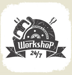 work shop brake vector image