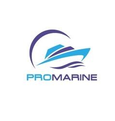 Yacht logo vector