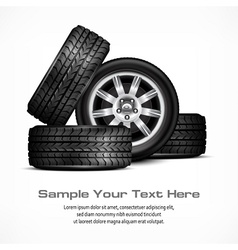 Car wheels vector image vector image