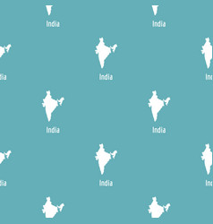 india map in black simple vector image vector image