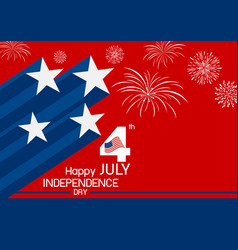 4 july usa independence day design vector image