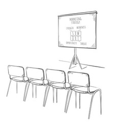 business marketing presentation template vector image