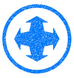 Directions rounded grainy icon vector