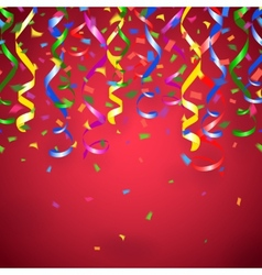 red party background vector image vector image
