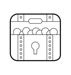treasure chest game icon vector image vector image