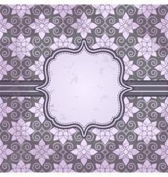 vintage pattern and frame for design vector image vector image