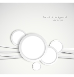 Background with gray circles vector image