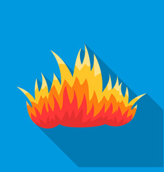 fire icon flat single silhouette fire equipment vector image vector image
