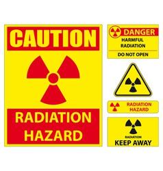 Radiation hazard signs vector image