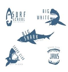 Shark logo concept for surf or beach club vector image vector image