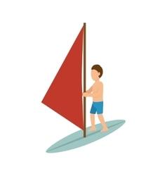 surfer man cartoon vector image vector image