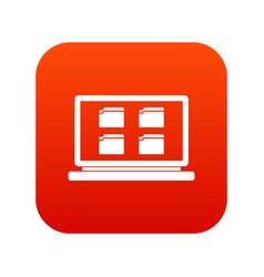 desktop icon digital red vector image