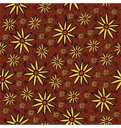 Endless background of yellow flowers vector