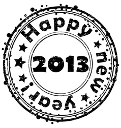 Happy new year 2013 stamp vector image vector image