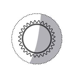 monochrome contour sticker with sun close up vector image vector image