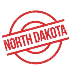 North Dakota rubber stamp vector image