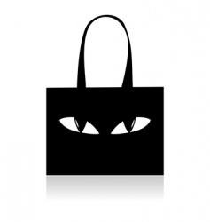shopping bag with eyes vector image vector image