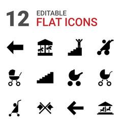 12 go icons vector