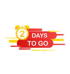 2 days to go in modern style special offer badge vector