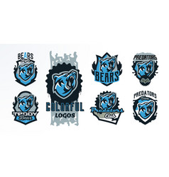 a collection of colorful emblems badges logos of vector image