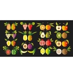 a set fruit vector image