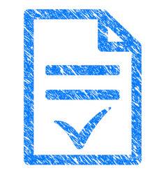Agreement document grunge icon vector