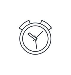 alarm clock thin line icon linear symbol vector image
