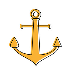 Anchor navy icon image vector