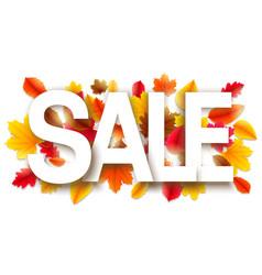 autumn sale background vector image