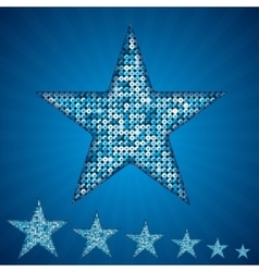 Blue star with elements of sequins vector