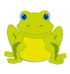 Cartoon animal frog vector
