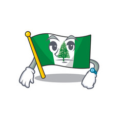 Cartoon character design flag norfolk island vector