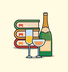 champagne bottle design vector image