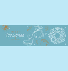 Christmas and new year banner background vector