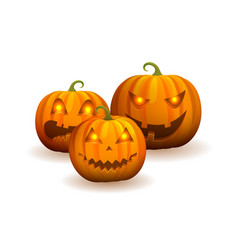 closeup of jack-o-lantern vector image