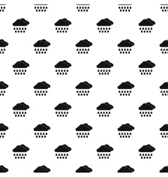 Clouds and rain pattern simple style vector