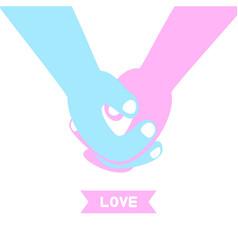 couple holding hands man holding womans vector image