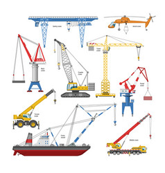 crane tower-crane and industrial building vector image