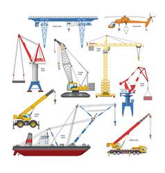 Crane tower-crane and industrial building vector