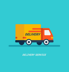 delivery service delivery by car or track vector image