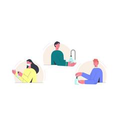 Disinfection coronovirus proper hand treatment vector