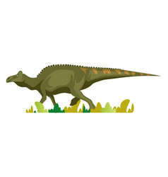 Edmontosaurus on white background vector