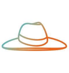 female beach hat icon vector image