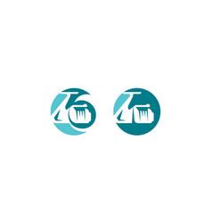 fishing gear logo icon vector image