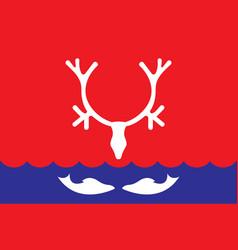 Flag naryan-mar in nenets autonomous okrug of vector