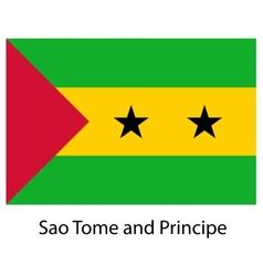 Flag of the country sao tome and principe vector