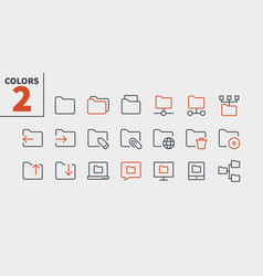 folder ui pixel perfect well-crafted thin vector image