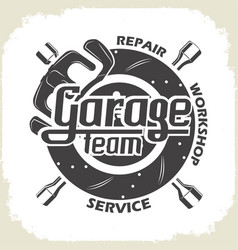 garage team service vector image