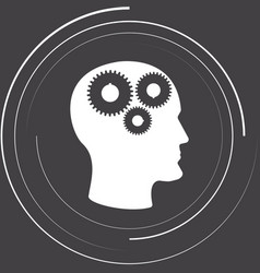 gears in the head vector image