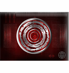 High tech set of lines on a red background vector